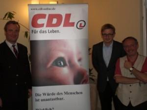 Der berliner CDL-Vorsitzende Stefan Friedrich, Holger Doetsch und Dr. Philipp Lengsfeld