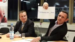 David Berger (rechts) und der CDL-Landesvorsitzende Stefan Friedrich (links)