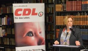 Eva Demmerle bei ihrem Vortrag